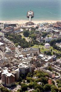 photograph by Hattie Miles ... Bournemouth aerial 2012