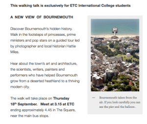 Etc walking talk