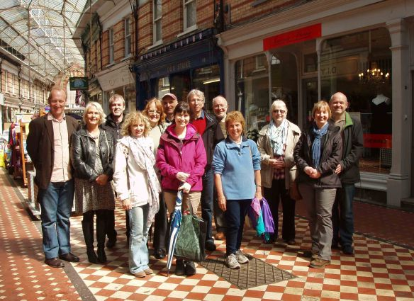 Wonderful Westbourne walkingtalkers in the Henry Joy Arcade