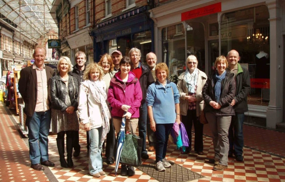 Walkingtalkers in Westbourne arcade earlier this year.